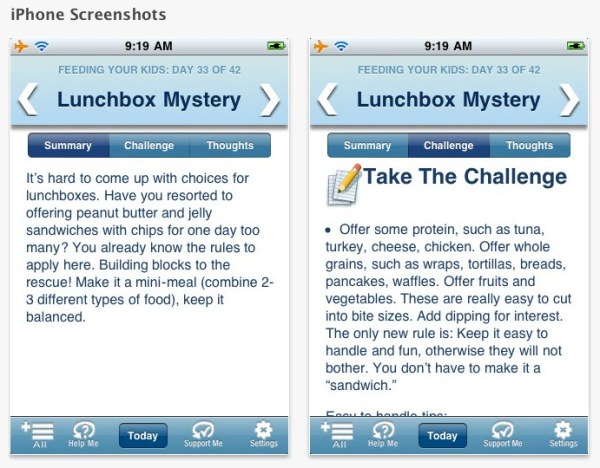 Habit Changer® Feeding Your Kids for iPhone, iPod touch, and iPad on the iTunes App Store