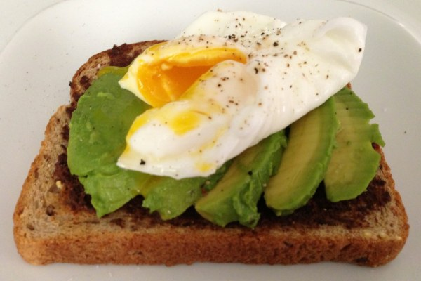 Toast with tapenade avocado and egg