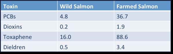 Farmed vs Wild Salmon