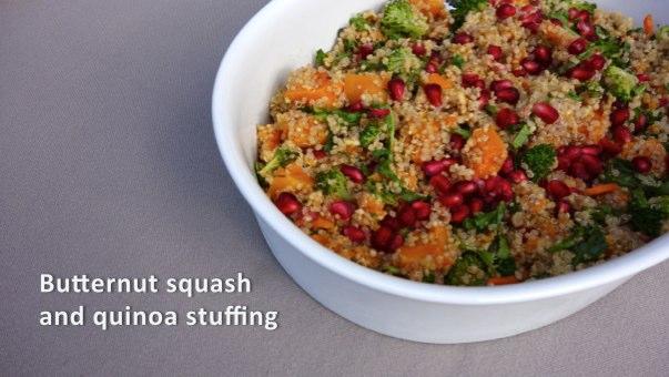 Butternut squash and quinoa stuffing
